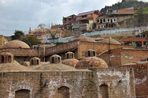 Domes of Bathhouses in Tbilisi, Georgia