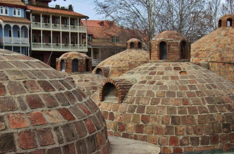 Brick bathhouse domes, Tbilisi, Georgia