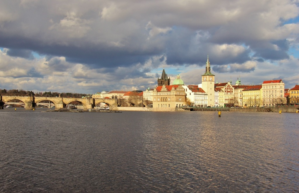View from Strelecky Island of Charles Bridge and Old Town, Prague, Czech Republic, JetSettingFools.com