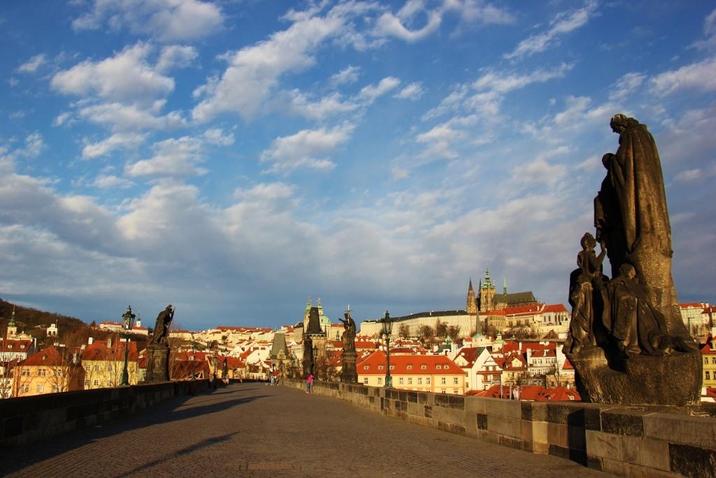Charles Bridge at Sunrise, Prague, Czech Republic, JetSettingFools.com