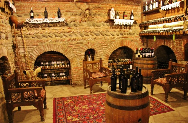 Tasting room at Karalashvili's Wine Cellar, Tbilisi, Georgia