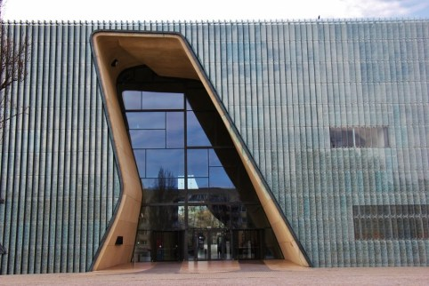 Entrance to POLIN Museum in Warsaw, Poland