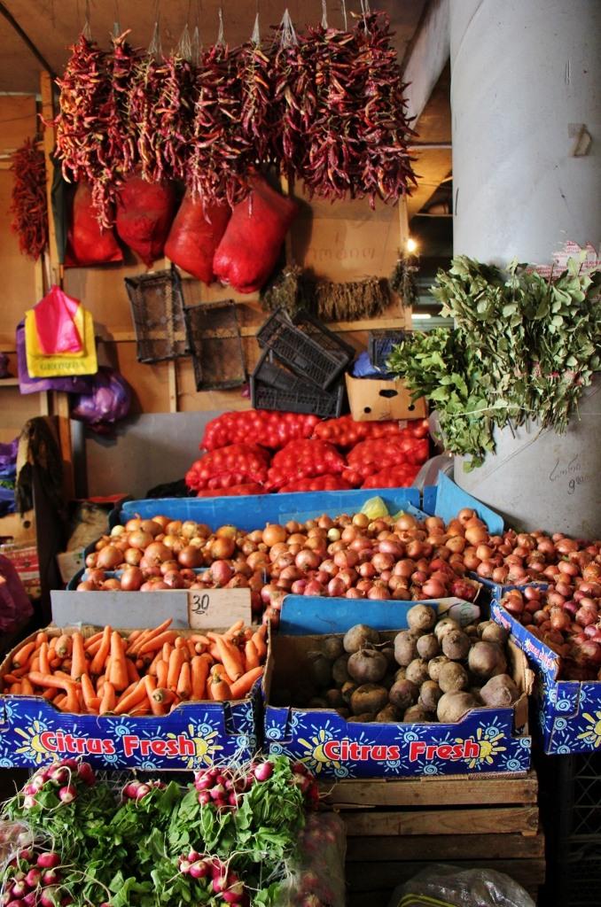 Colorful Produce ventor at Dezerter Market, Tbilisi, Georgia