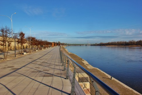 Waterfronting Vistula Boulevard in Warsaw, Poland