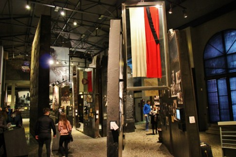 Exhibits in the Warsaw Uprising Museum, Warsaw, Poland