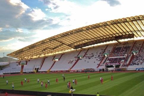 Hajduk soccer match in Poljud Stadium in Split, Croatia