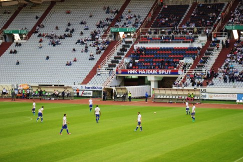 Hajduk football match at Poljud Stadium in Split, Croatia
