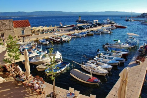 Small marina in Bol, Brac, Croatia