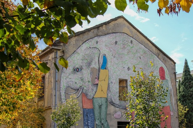 Street Art in neighborhood in Mostar, Bosnia and Herzegovina