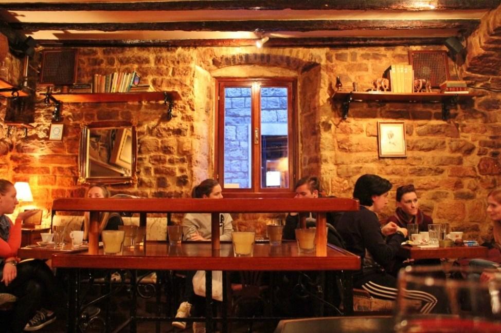 Cozy interior of Teak Cafe in Split, Croatia