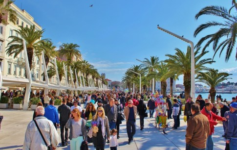 Walking the Riva in Split, Croatia
