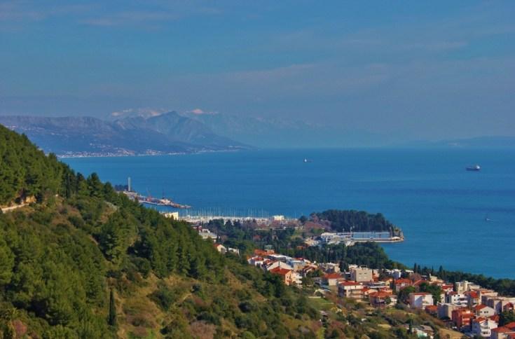 Views while hiking Marjan Hill in Split, Croatia