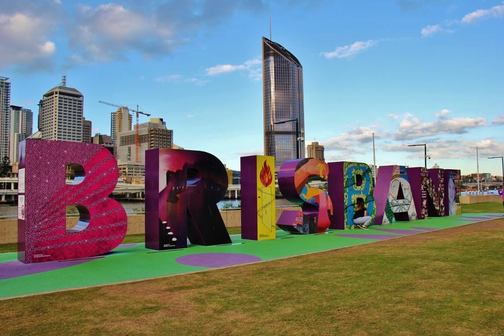 Brisbane Block Art display on South Bank, Brisbane, Australia