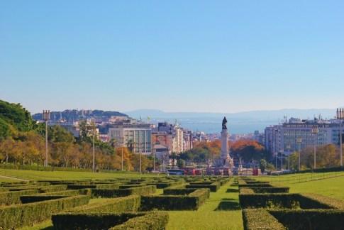 Eduardo VII Park in Lisbon, Portugal