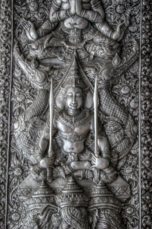 Silver artwork at Wat Muen San in Chiang Mai, Thailand