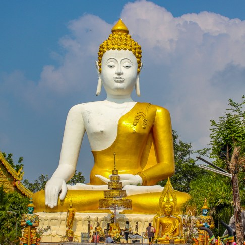 Giant Buddha Statue at Doi Kham Temple in Chiang Mai, Thailand