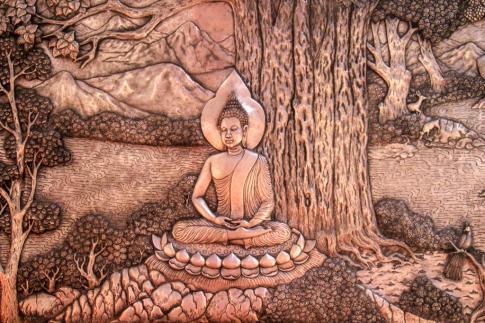 Silversmith artwork at Wat Sri Suphan Temple in Chiang Mai, Thailand