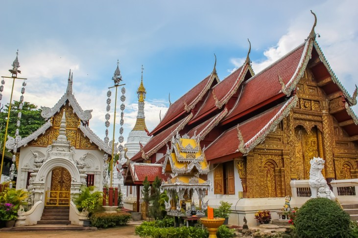Ornate temple in Chiang Mai, Thailand