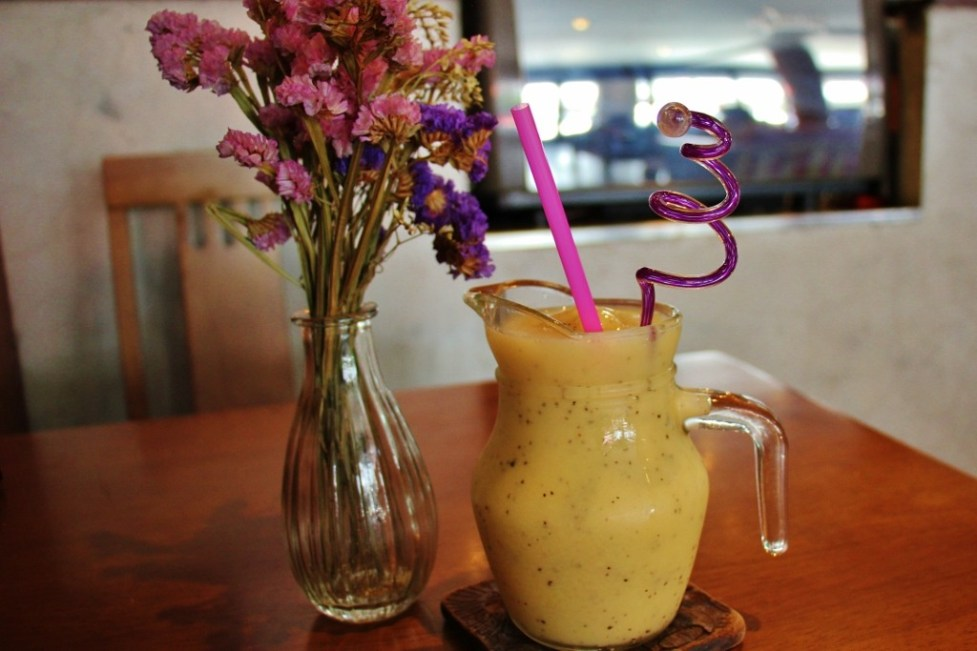 An All-Fruit smoothie at Destiny Cafe in Chiang Rai, Thailand
