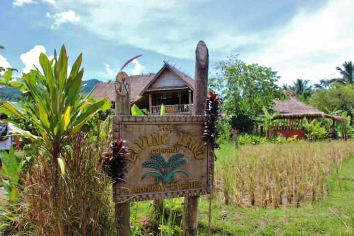 Entrance to Living Lang Lao Rice Farm in Luang Prabang, Laos