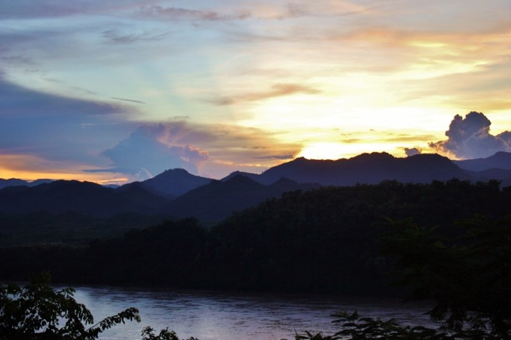 Mount Phousi for Sunset in Luang Prabang, Laos