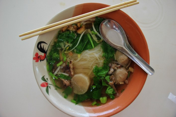 Typical noodle soup in Chiang Rai, Thailand