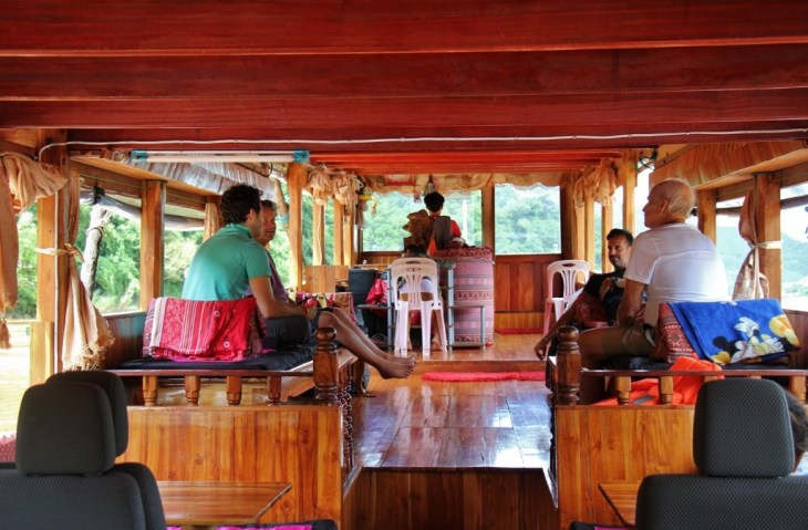 Laos Slow Boat interior