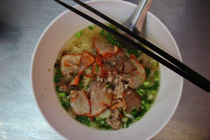 Pork and Noodle Soup in Chiang Rai, Thailand