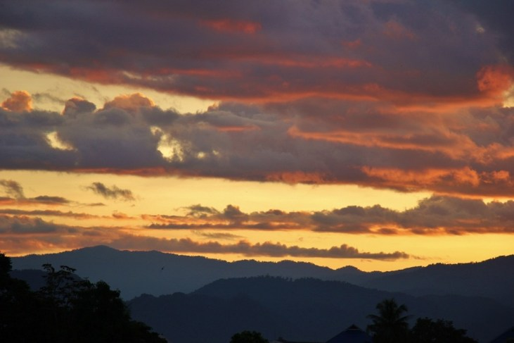 Sunset from Dinner Late Cafe in Chiang Rai, Thailand