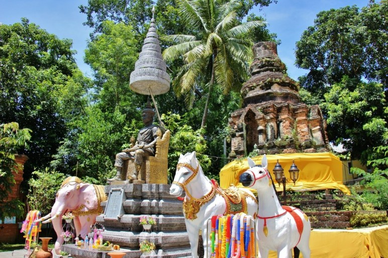 King Phraya Mengrai chedi at Wat Doi Ngam Muang in Chiang Rai, Thailand