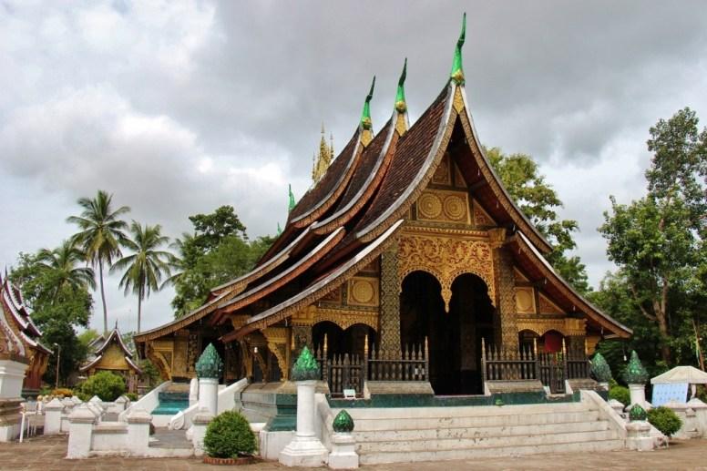 Colorful temple at Wat Xieng Thong, Luang Prabang, Laos
