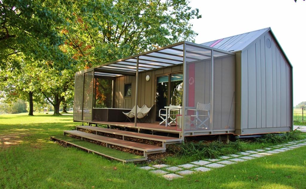 Glamping hut 5 at Big Berry Resort in Bela Krajina, Slovenia
