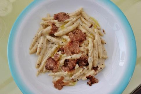 Creamy Pasta with white truffles, Chef Balin at Big Berry Resort, Bela Krajina, Slovenia