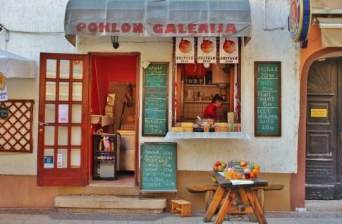 Cafe on Tkalciceva Street in Zagreb, Croatia