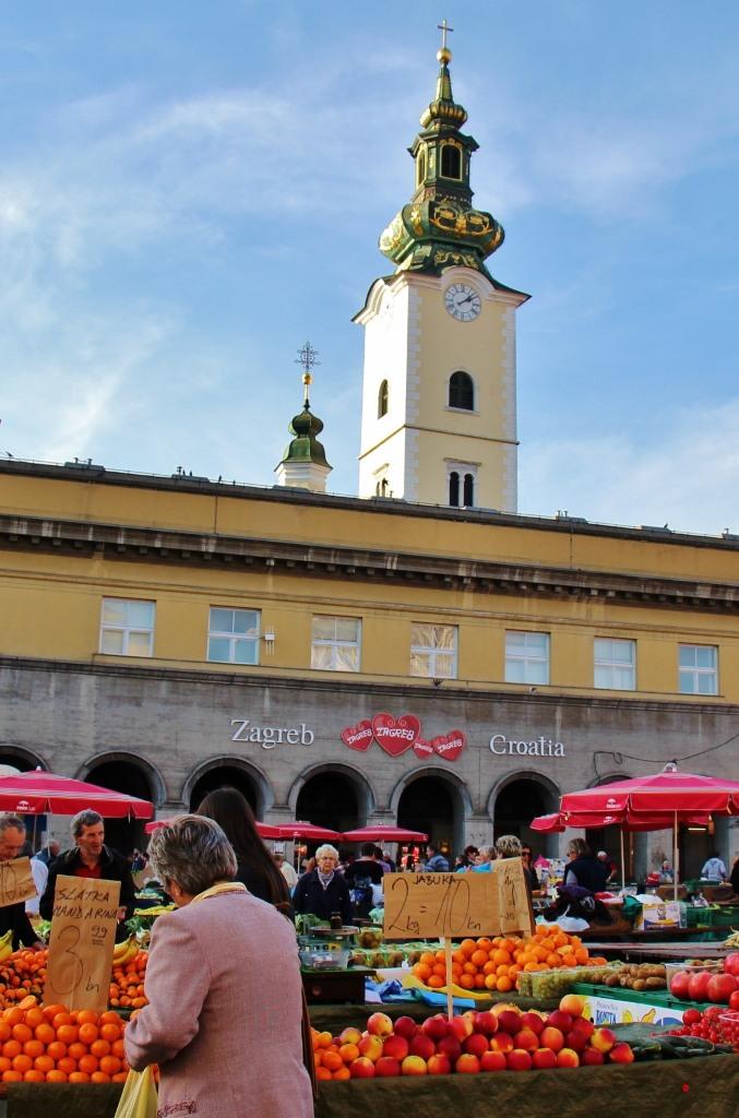 Dolac Market in Zagreb, Croatia