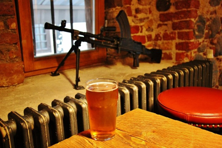 Pint of craft beer at The Armoury Bar in Riga, Latvia
