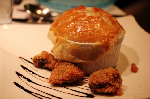 Chicken Cassoulet appetizer on Viking Amsterdam to Budapest cruise