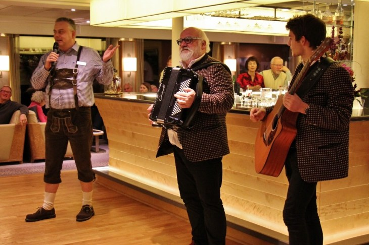 Father/Son Duo play Accordion and Guitar at Taste of Austria Dinner on Viking Amsterdam to Budapest Cruise