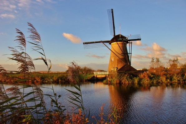 One of 19 Kinderdijk Windmills, The Netherlands