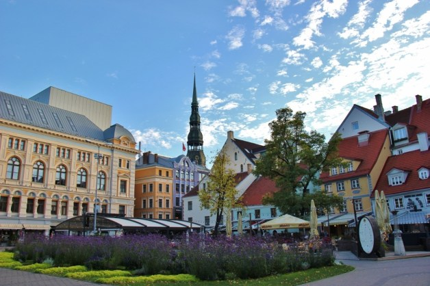 Livu Square, Old Town, Riga, Latvia