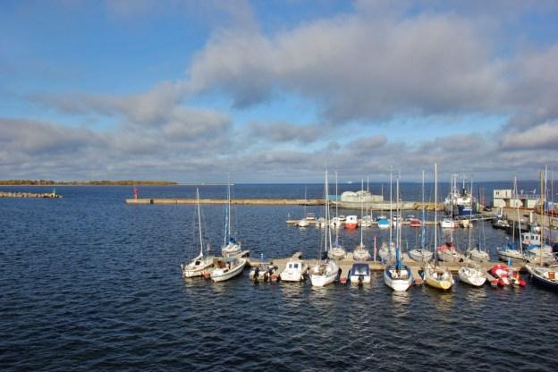 Boats in marina at Seaplane Harbour in Tallinn, Estonia