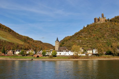 Maus Castle on Romantic Rhine River in Germany