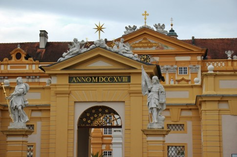 Entrance to Melk Abbey in Austria