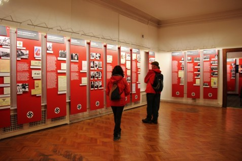 Diplays at the Museum of the Occupation of Latvia, Latvijas Okupacijas Muzeis, in Riga, Latvia