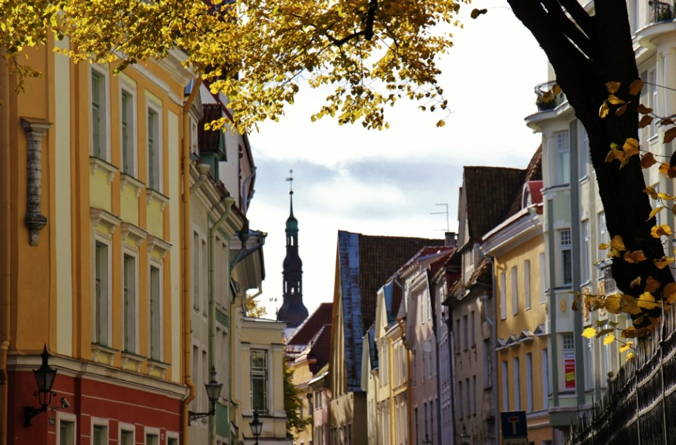 Old Town on autumn day in Tallinn, Estonia