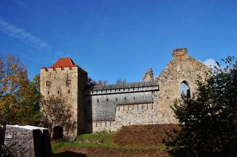 Remains of Sigulda Castle in Sigulda, Latvia