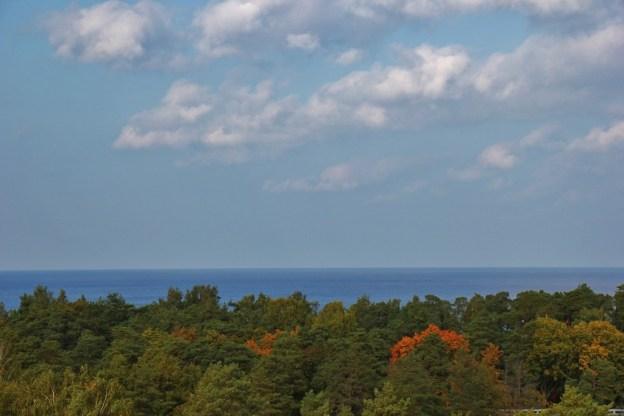 Sea views of Gulf of Riga from Dzintaru Panoramic Tower in Jurmala, Latvia