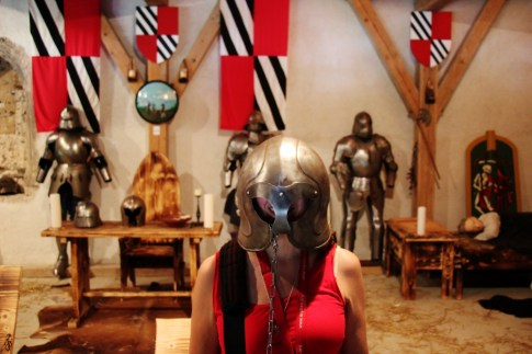 Armor Room at Predjama Castle in Slovenia