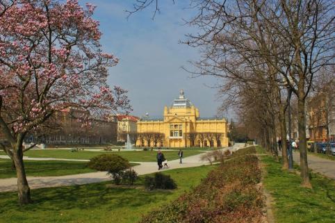 Art Pavilion on Horseshoe Park in Zagreb, Croatia