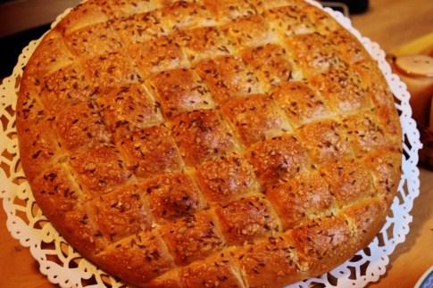 Belokranjska Pogaca regional bread from Domacija Sraif in Bela Krajina, Slovenia